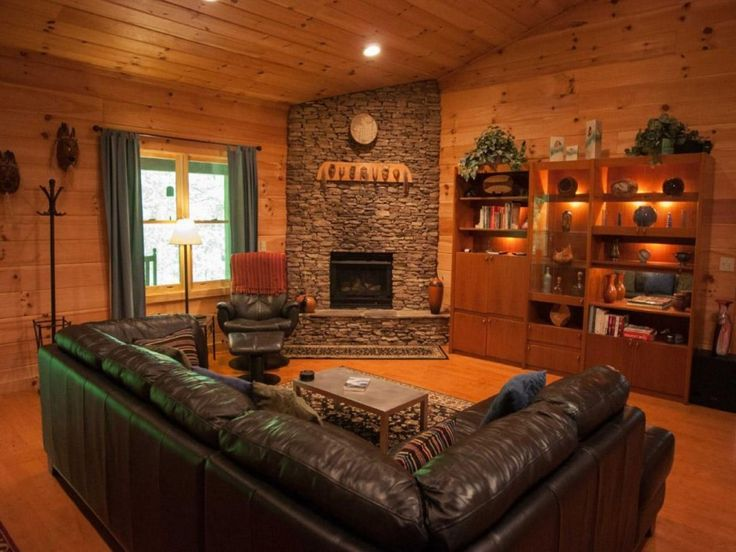 Tremendous Christmas Decorating Ideas For Log Cabins With Knotty Pine Tongue And Groove Paneling Also Wood