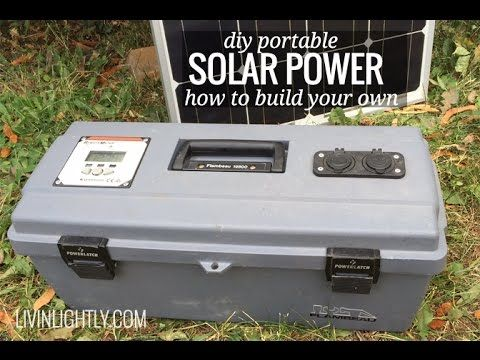 DIY Portable Solar Power! This scalable system fits many different budget and needs. This little system features 35ah of battery and can power our Airstream for a day (lights, fan, water pump + charging laptop and phones) before needing a charge. Our 100w panel can top of the batteries in 6-7hrs of good sun.