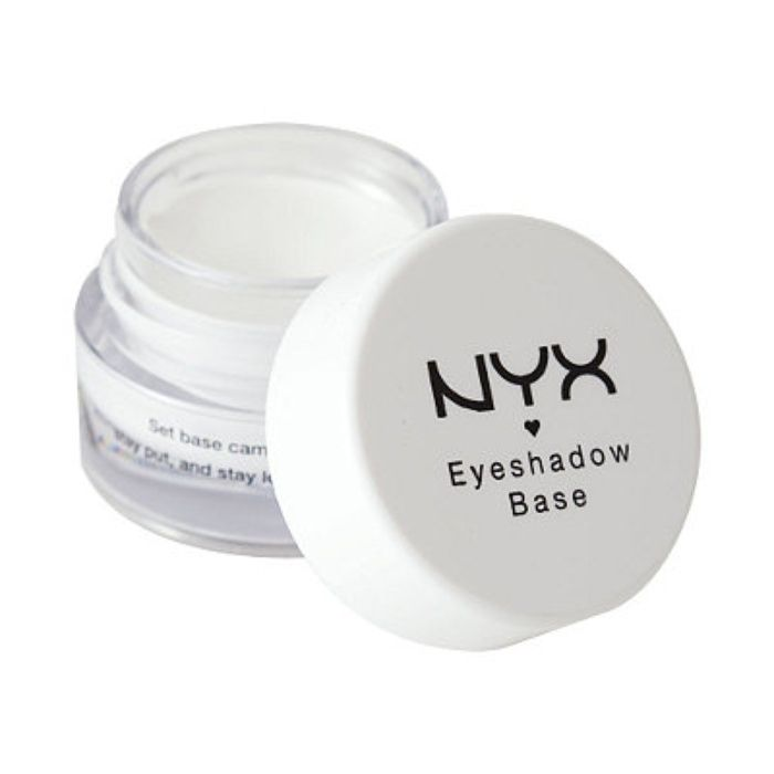 The Ten Best Eyeshadow Primers. #9, NYX Cosmetics Eyeshadow Base: Available in three skin tones, this base works to pump up the intensity and color of any eyeshadow and actually increase it by 100x