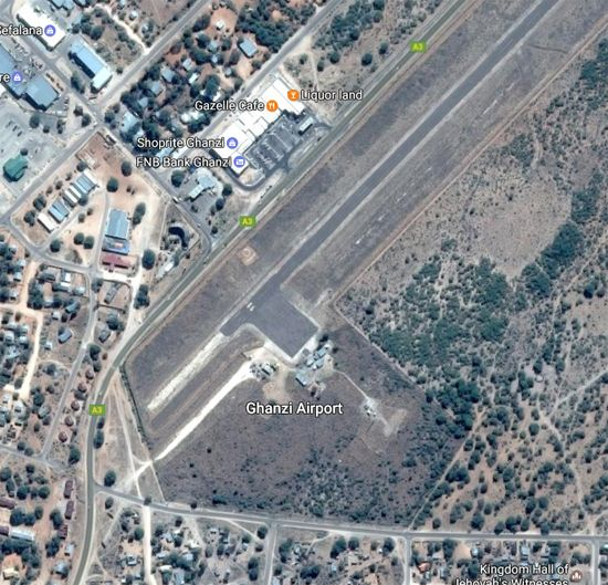 Ghanzi Airport (IATA: GNZ, ICAO: FBGZ) is an airport at Ghanzi, in the Ghanzi District of Botswana. The airport is approximately 1 km from the Read more [...]