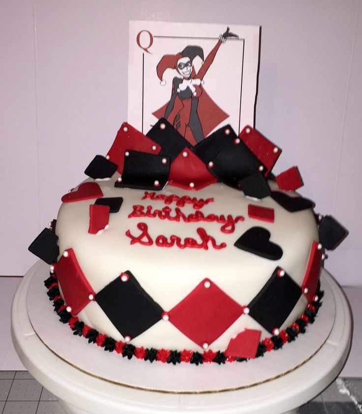 Harley Quinn Cake My Custom Cakes Cupcakes And Cookies