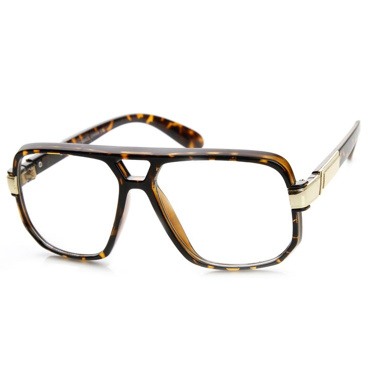 Cool Retro 1980's Classic Square Frame Hip Hop Clear Lens Glasses 8975 | zeroUV