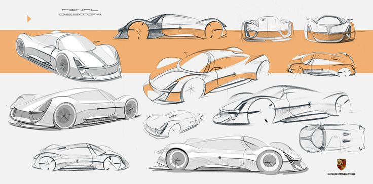 Porsche Fuel-Cell Vehicle Exterior Design on Behance