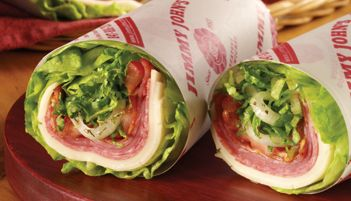 Jimmy Johns Unwich! Tasty meat and cheese wrapped up in lettuce instead of bread. TASTY!