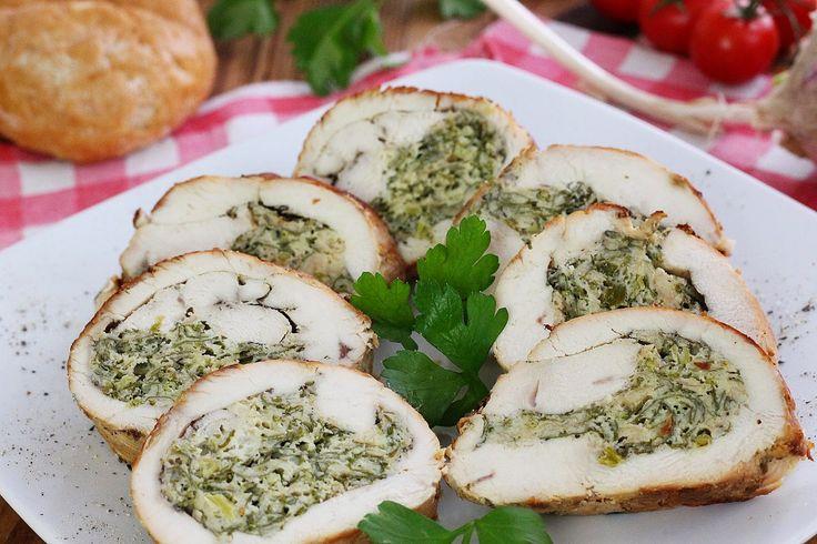 wesoła kuchnia: Roladki z nadzieniem pietruszkowym