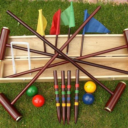 Traditional Garden Games Royal York Croquet set