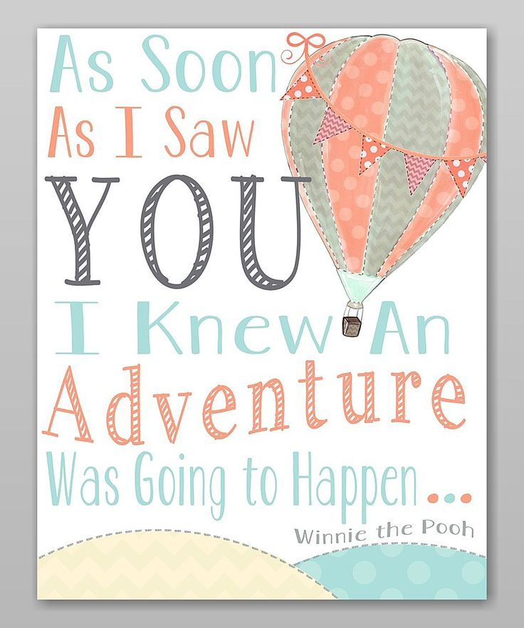 This Hot Air Balloon 'Adventure' Print by Farmhousefive Art for Kids is perfect! #zulilyfinds