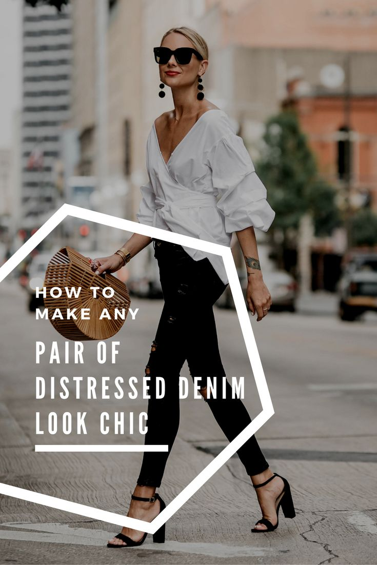 Is it time for a new pair of jeans? We say Always!! Stylish ways to wear your distressed denim plus all the denim styles you should add to your closet in 2018!