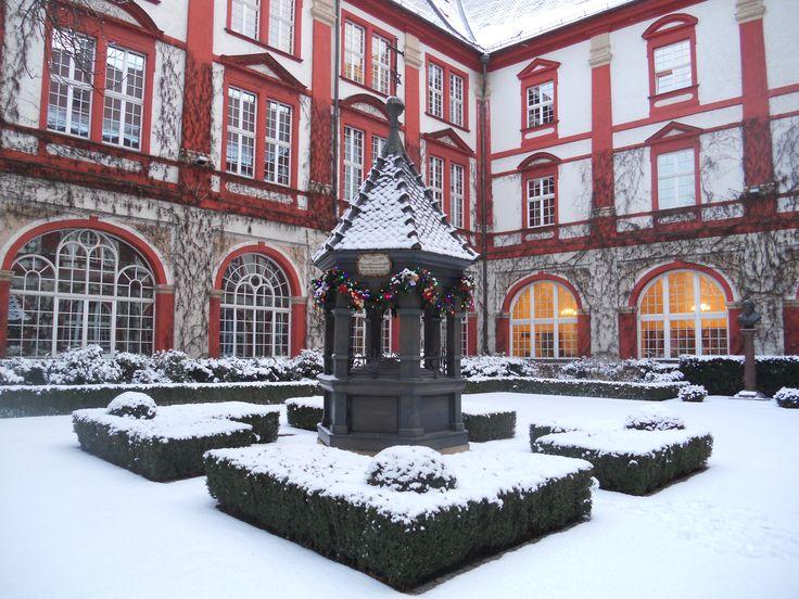 Wrocław - Cortile interno della biblioteca Ossolineum