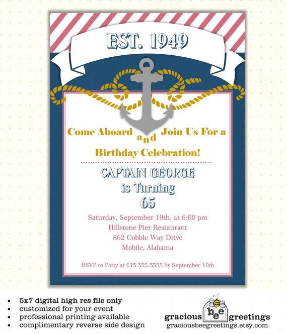 Adult Milestone Birthday Party Invitation by GraciousBeeGreetings, $14.00