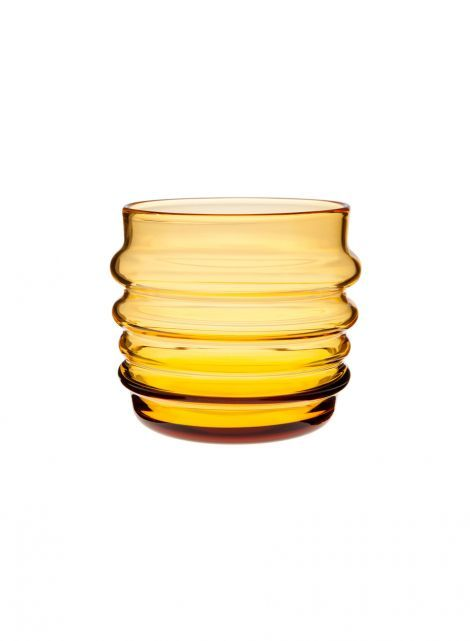 Sukat makkaralla tumbler / 2 pc (warm yellow) | Décor, Kitchen & Dining, Glassware | Marimekko