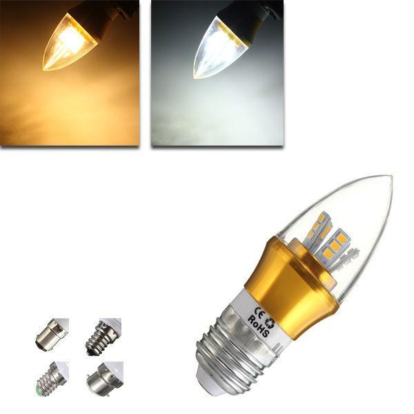 Wholesale Price Free Shipping E12 Led Bulbs E27 E14 E12 B22 B15 6w Led Warm White White 25smd 2835 Golden Candl Light Bulb Candle Light Bulb Lamp Light Bulb