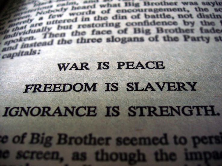 george orwell. war peace...