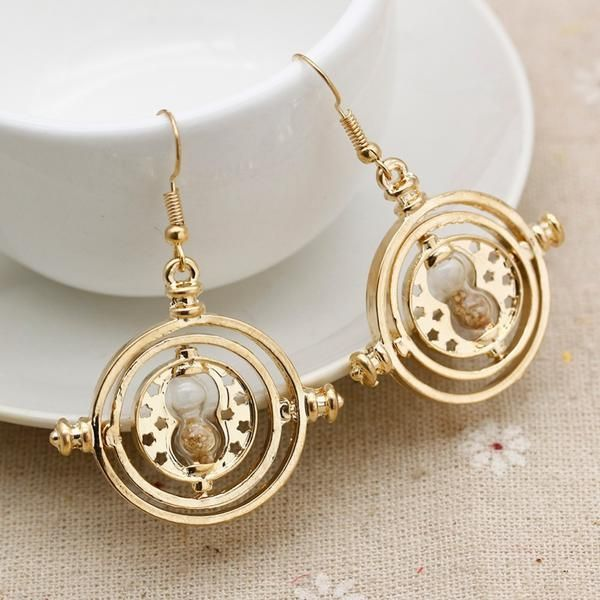 Get this Harry Potter Time Turner Hermione Granger Hourglass Earrings and let the world know you're a Harry Potter fan! Make a gift for yourself or your friend, everyone will be happy to have it. INTE