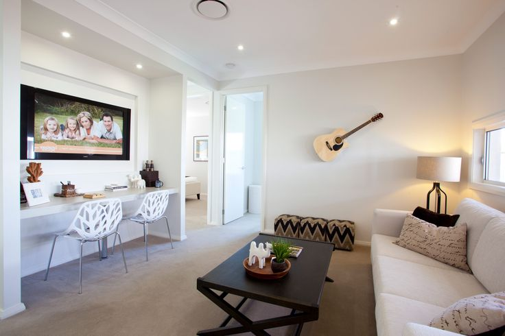 This dual purpose room is both functional and modern. Find out how flexible our Havana floor plans can be at http://www.mcdonaldjoneshomes.com.au/home-designs/new-south-wales-and-queensland/havana