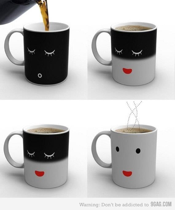 coffee mug - to also be used as a warning sign lol