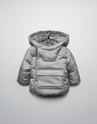 PARKA WITH A CENTRAL POCKET - Collection - Mini (0-9 months) - Kids - ZARA Canada