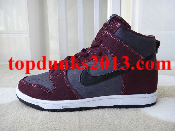 Burgundy Wine Red New Nike Dunk Men High Pro High Quality