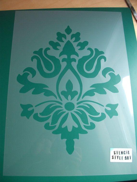 Stencil decorazioni pareti damascate stencil di IdealStencils