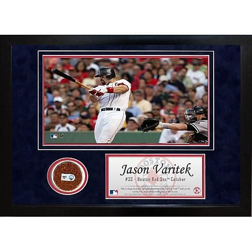 Steiner Sports Jason Varitek Mini Dirt Collage