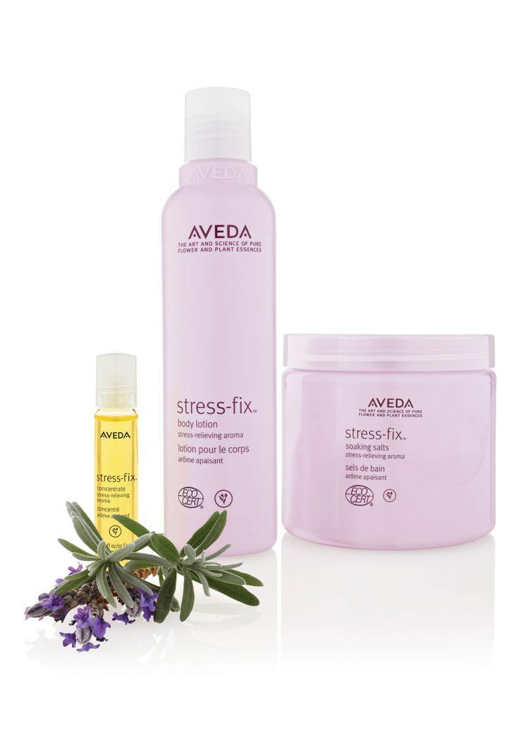 Stress na een weekje werken? Koop dan het Aveda Stress-Fix progamma.Op basis van 100% gecertificeerd organische ingrediënten met klinisch bewezen stressverlichtend aroma.http://www.lemage-shop.nl/aveda/skincare/stress-fix/stress-fix-pakket