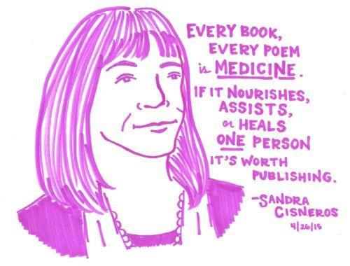 What influenced Sandra Cisneros to be an author?