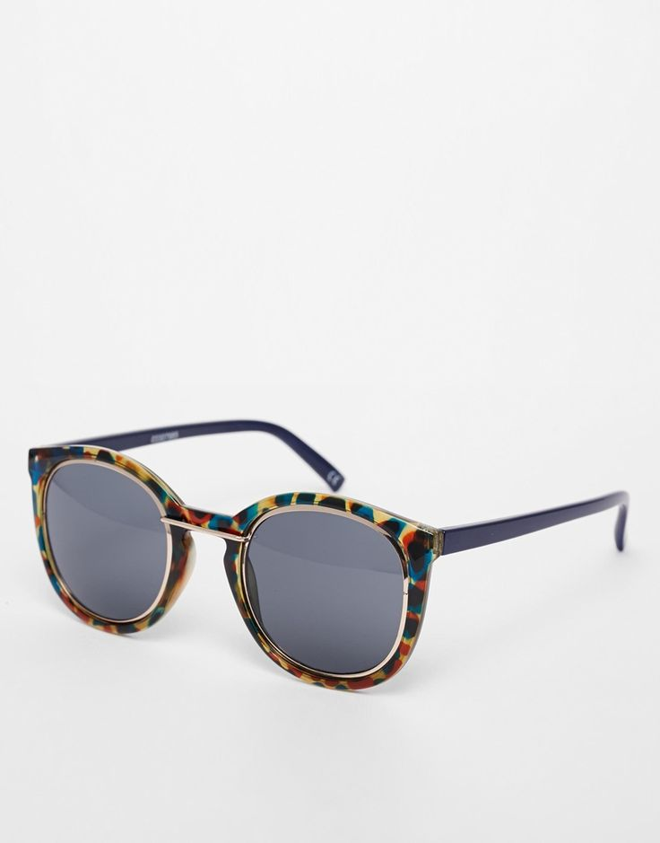 ASOS+Metal+Sandwich+Round+Sunglasses
