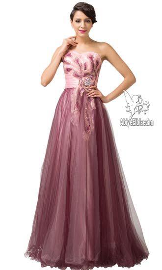 uzun abiye elbise tül saten tasarımlı ,abiye elbise,uzun abiyeler,gece elbisesi,mezuniyet elbisesi