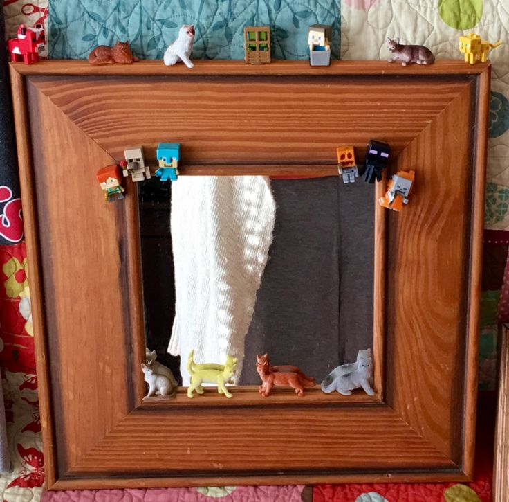 Decorated mirror. Fun and wimsy