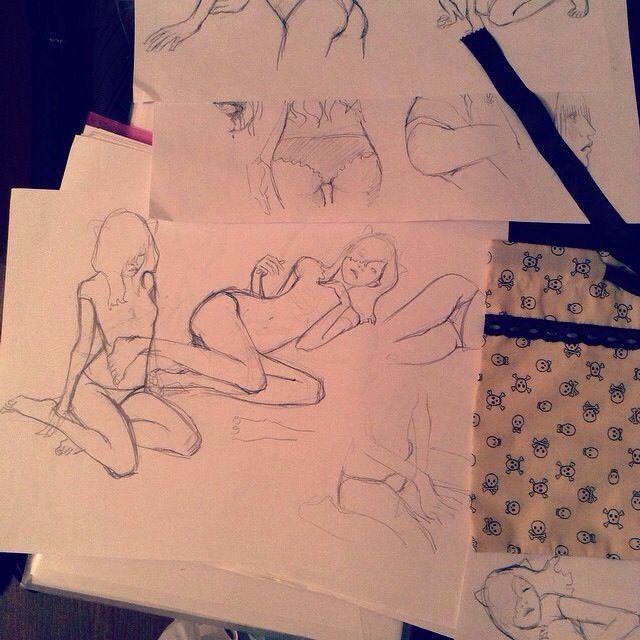 Art by Tomatozombie @tomatozombie on IG ....drawing sketch instagramart gestures illustration drawinginspiration