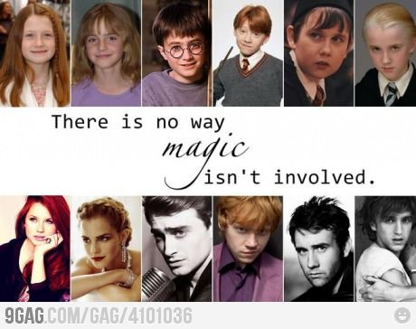Harry Potter characters then and now, transformation ...