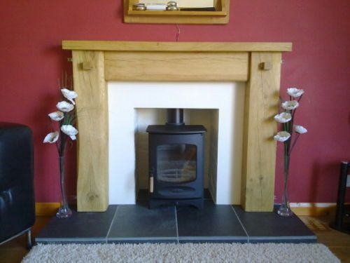 Could you live with the colour delineations in this look? Oak fire surround. #fireplace