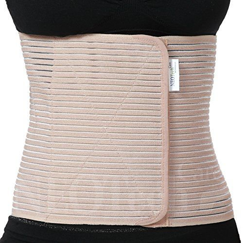 Postpartum Support Belt - NEOtech Care ( TM ) Brand - Post Maternity Pregnancy Trimmer Girdle / Corset, Waist / Tummy / Belly Band & Back Support - Breathable & Elastic - Beige Color - Size XL