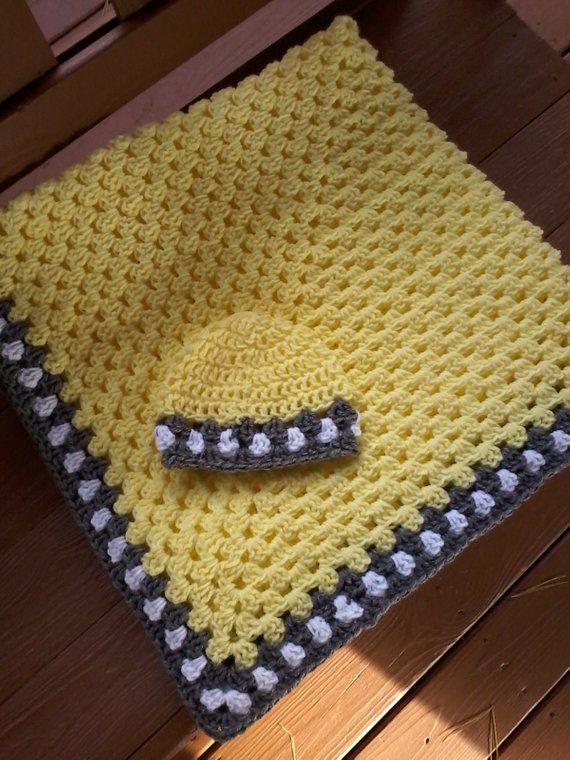 Decke und Hut Baby-Set häkeln Baby-Geschenkset