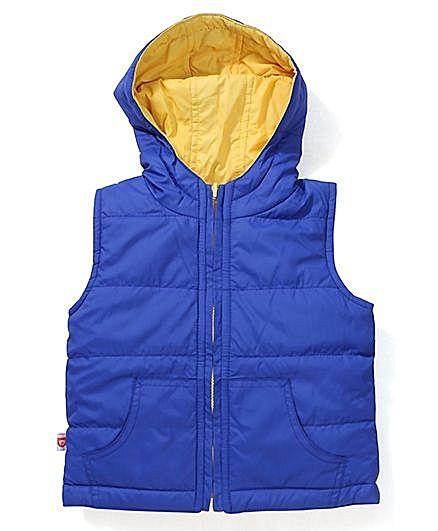 Baby League Sleeveless Reversible Jacket - Royal Blue