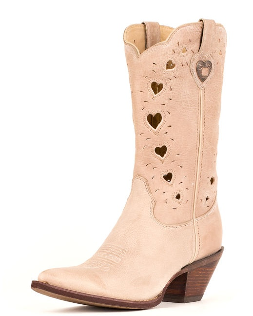 Heart these!!  Crush by Durango is a Western boot with the strength of a work boot! This pointed toe boot has a soft, premium upper with a cutout shaft. This fashionable boot also has a leather shaft lining and a cushion flex insole for comfort. It features a tempered steel shank and a bark texture composition rubber outsole giving this boot a rugged, hardworking feel.