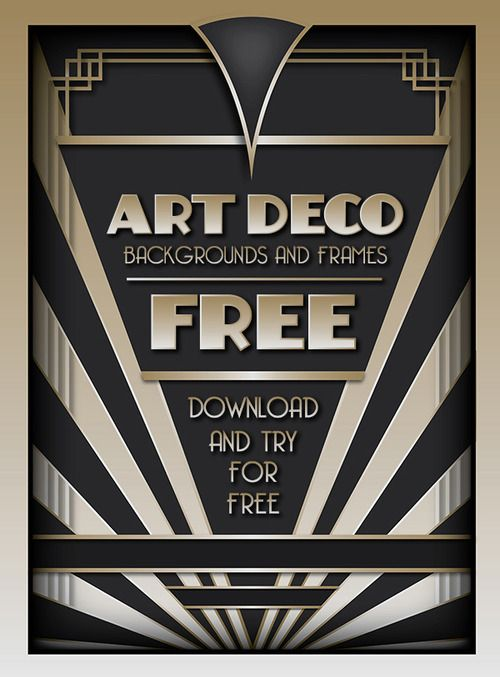 Download and try the best-selling Art Deco Backgrounds and Frames for FREE!  Visit http://www.wingsart.net/home/2013/10/07/free-art-deco-background/ to download your free Art Deco Background and start designing now!