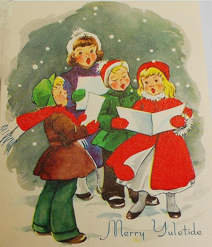 Christmas Carol Singers Decorations: 136 Best Caroling Images On Pinterest
