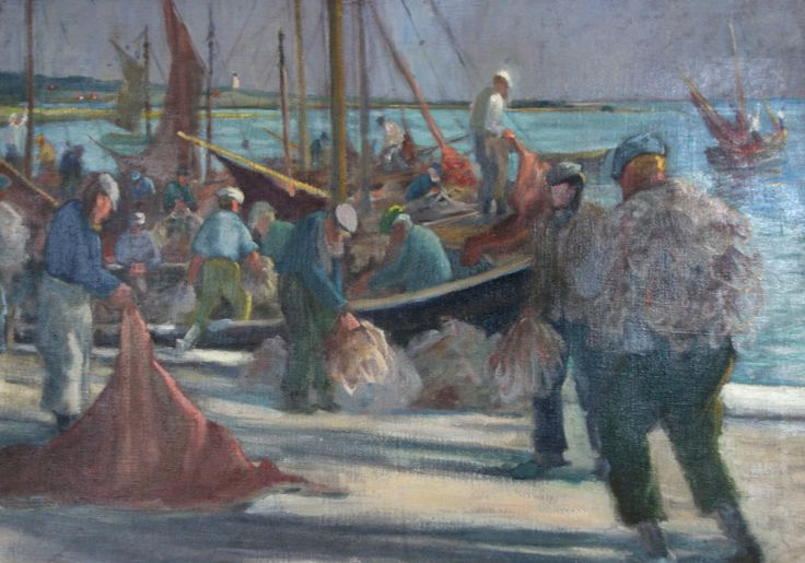 Clara Arnheim - Fischer im alten Fischereihafen von Vitte (Hiddensee)