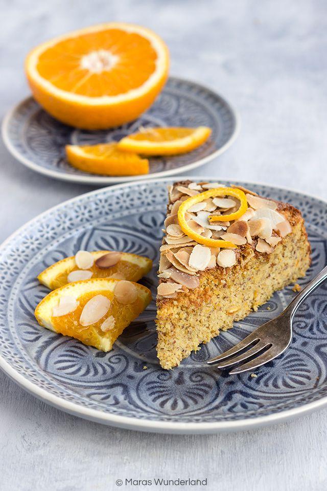 Spanischer Orangen-Mandelkuchen. Glutenfrei und schmeckt richtig toll nach Orangen - supersaftiger Sommerkuchen!