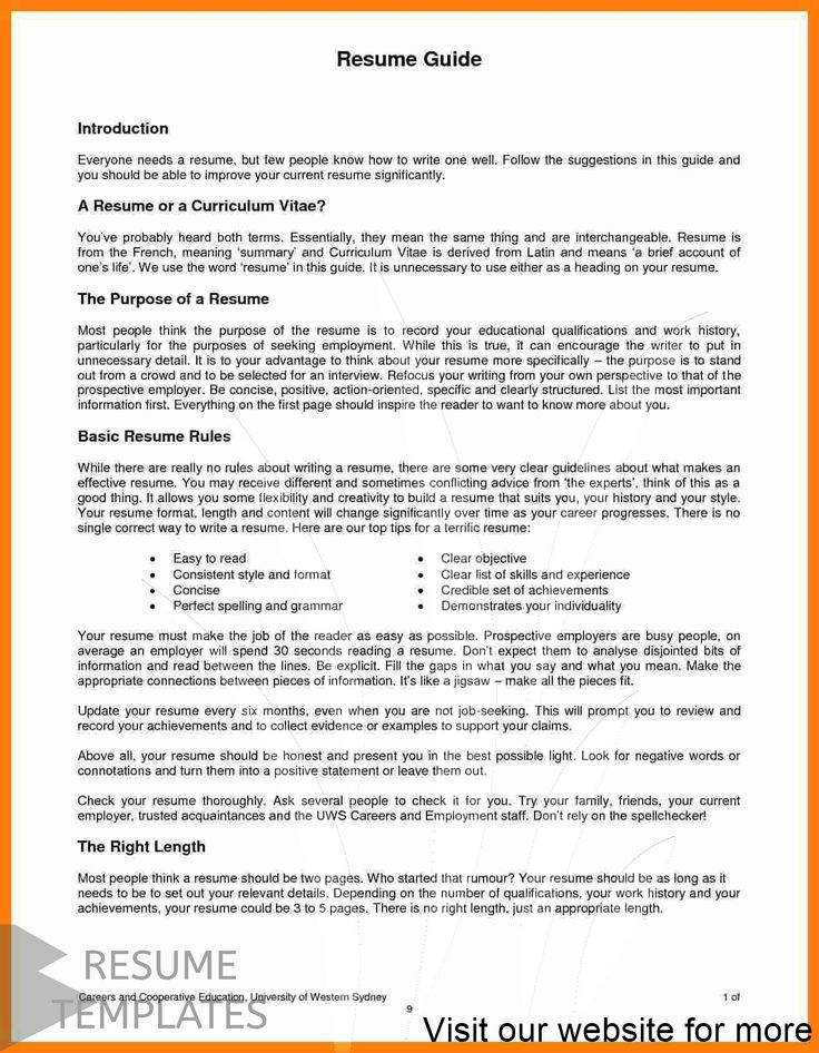 ATSfriendly resume, resume template for Word for instant