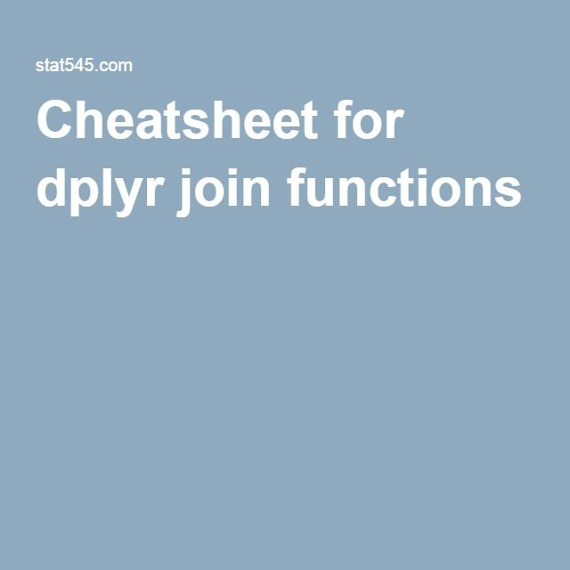 Cheatsheet for dplyr join functions