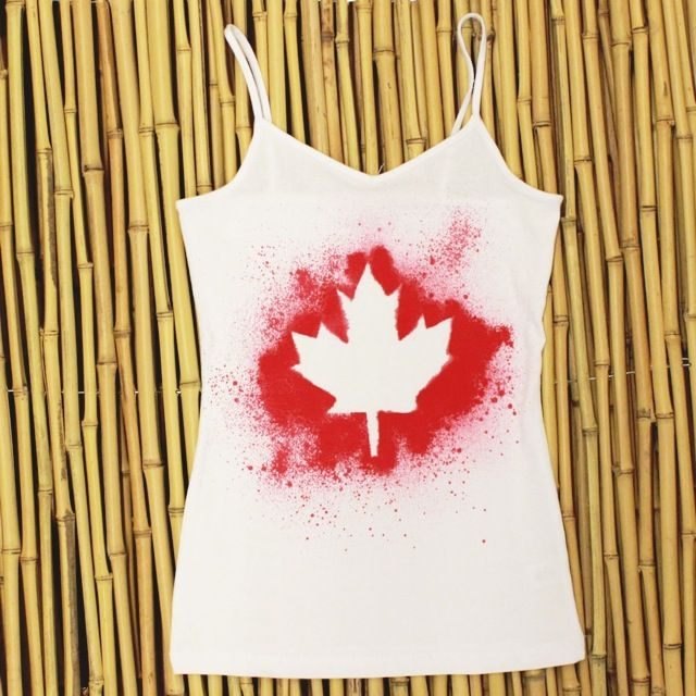 DIY canada day shirt.