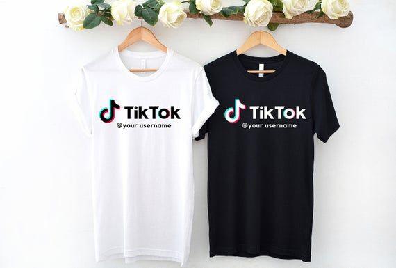 Custom Tiktok T Shirt Tiktok Username Shirt Tik Tok T Shirt Custom Tik Tok Shirt Cute Gift For H Godmother Shirts Mother Shirts Shirts