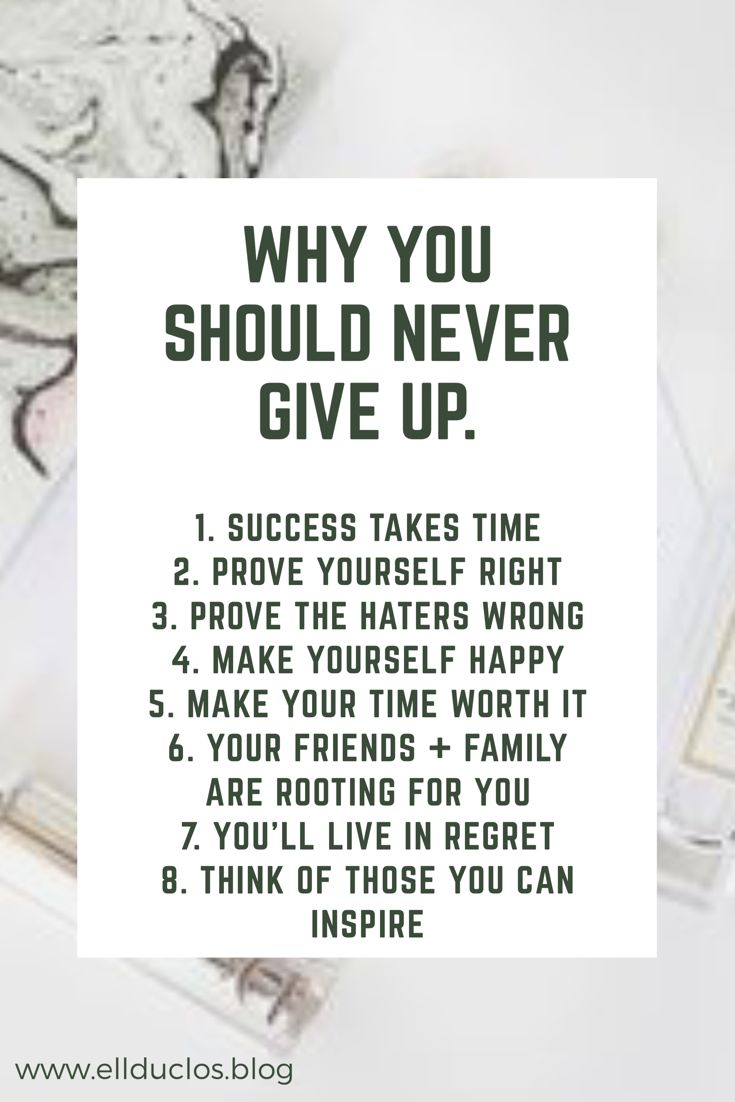 Many times we may feel as if success is never going to come. We want to give up, but we worked so hard. Here's why you should never give up!