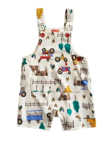 Joules Baby Boys Dungarees, Cream Farm.                     The cutest babygrow we've ever seen (even we do say so ourselves). Crafted in the finest cotton we could find and adorned with a home grown farm print.
