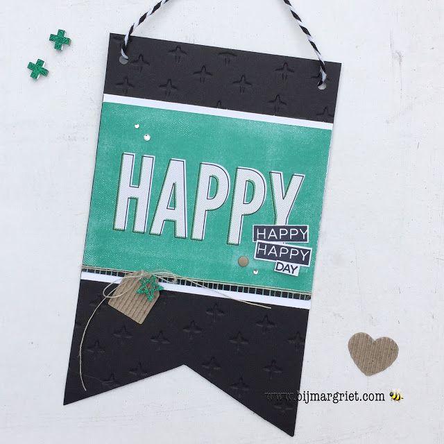 Bij Margriet; Stampin' Up! inspiratie en verkoop: Verjaardags vlaggetje