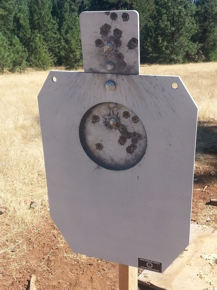 """3/8"""" AR500 Steel IDPA A-Zone reactive target. Both a-zone reactive plates reset by spring tension. http://www.rogueshootingtargets.com/3/8-x-18-x-30-ar500-steel-idpa-a-zone-silhouette-targets/"""