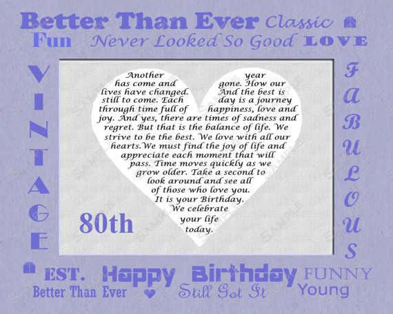 17 Best images about Dads 80th Birthday Ideas – Dad 80th Birthday Card