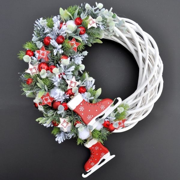 Christmas Wreath with Ice Skates